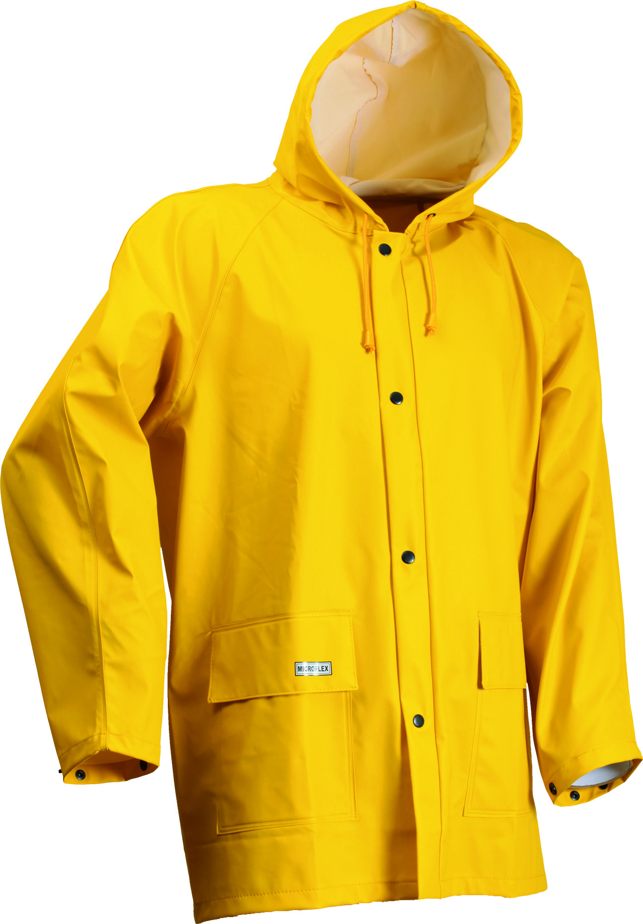 Microflex LR48 PU Waterproof Jacket Yellow - Foul Weather ...